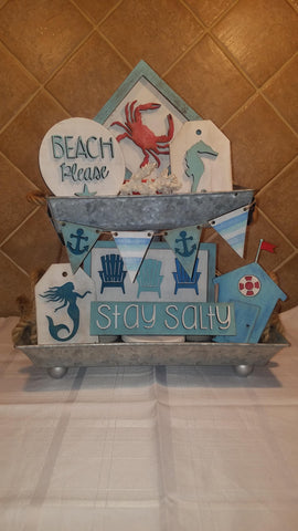 Beach Please tiered tray set