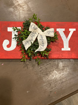 JOY with wreath