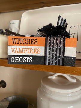 Witches, Vampires, Ghost book stack