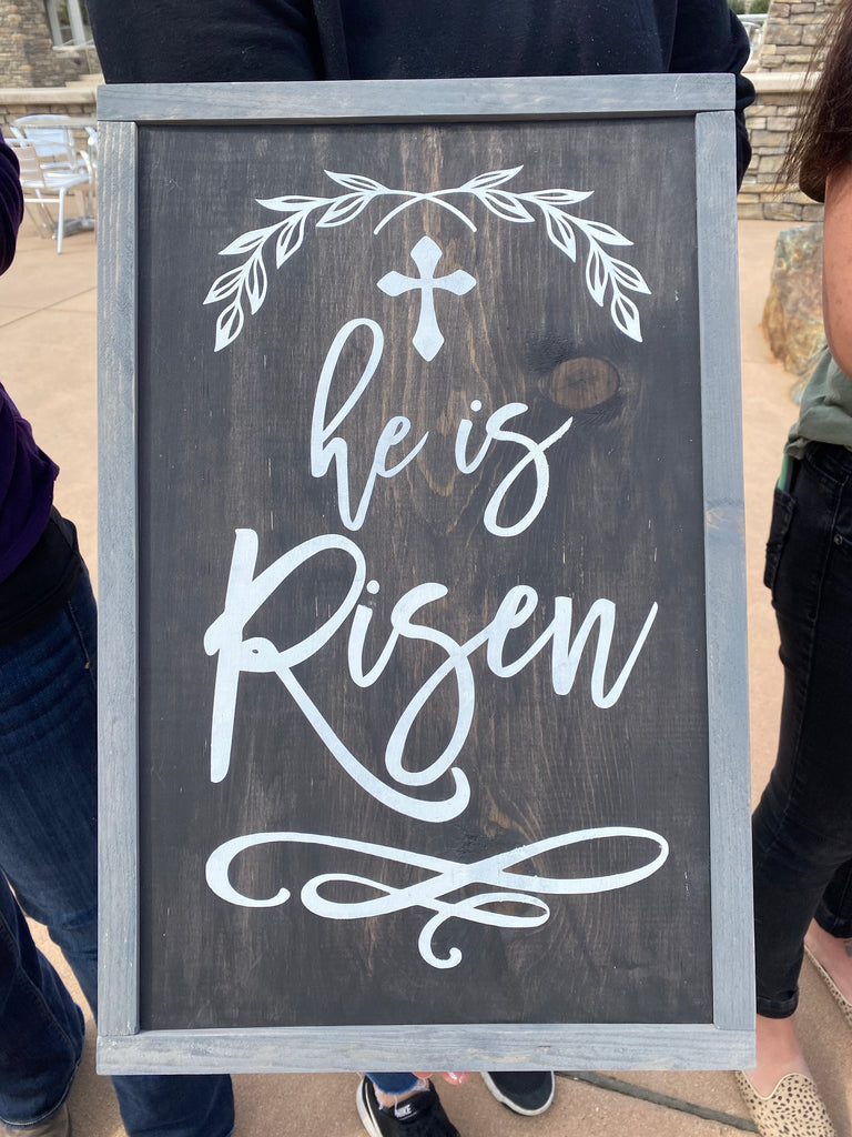 He is Risen- cross