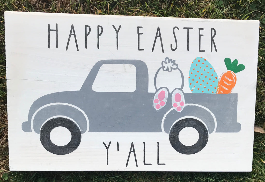 Happy Easter Y'All truck