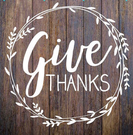 Give thanks- wreath
