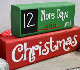 Christmas countdown block