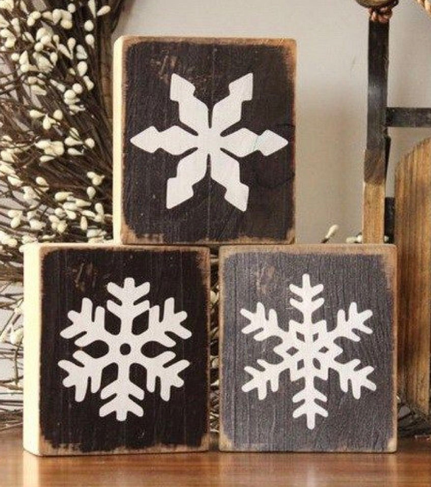 Snow flake blocks