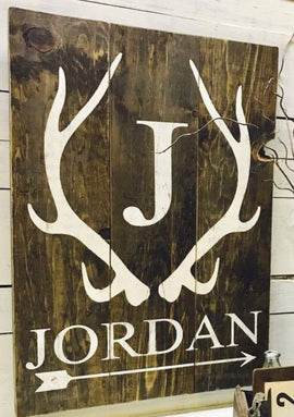 Antler name sign