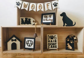 Dog tiered tray decor