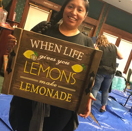 When life gives you lemons-tray