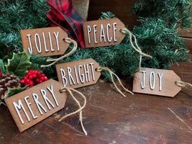 Christmas hang tag ornaments