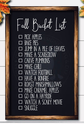 Fall Bucket List -2