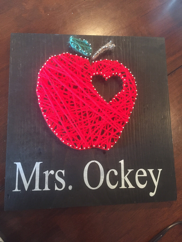 Apple string art