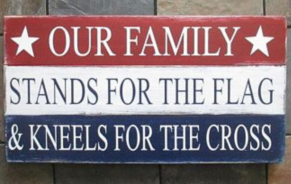 Our family stands...