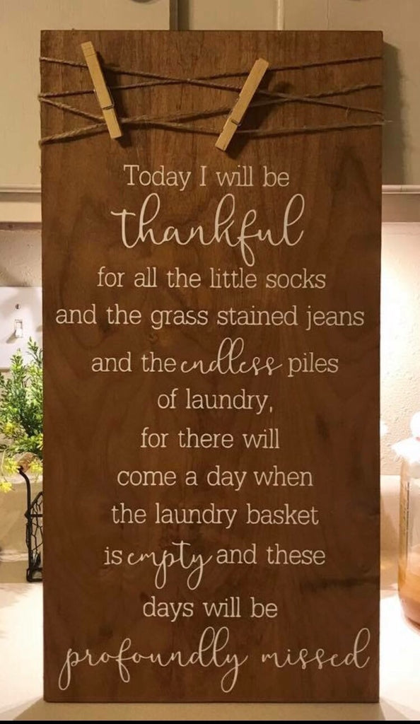 Today I will be thankful