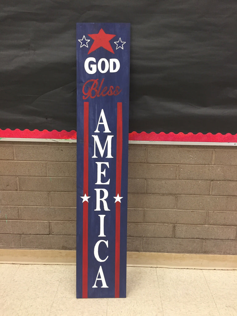 God bless America Porch Sign