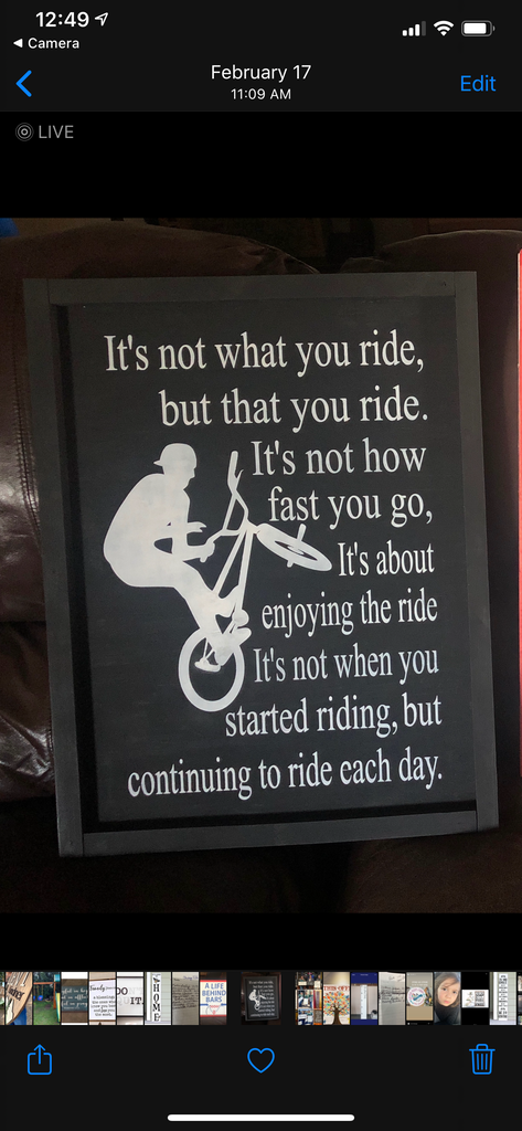 It's not what you ride