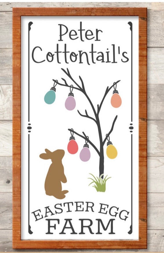 Peter Cottontail- Easter farm