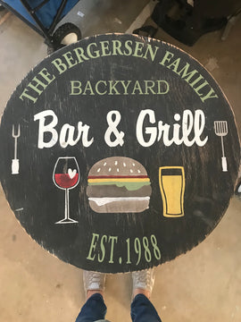 Family backyard Bar & Grill