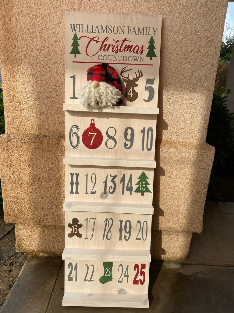 Christmas Countdown shelves