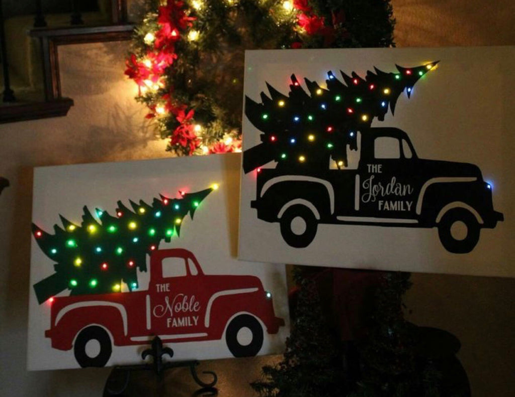 Light up Christmas Truck