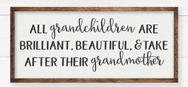 All grandchildren...