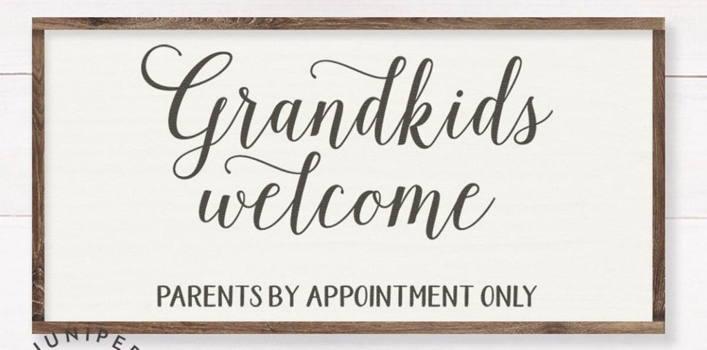 Grandkids welcome