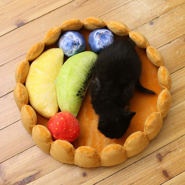 Comfortable Fruit Tart Cat Bed