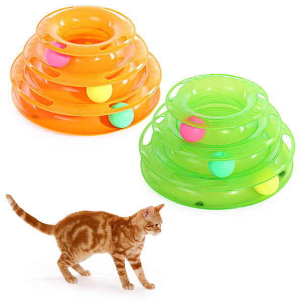 Cat Turntable Scrolling Ball Toy