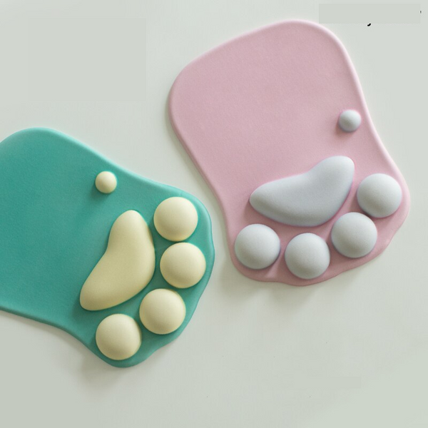 Cat Paw Shape Wrist Support Mouse Pad