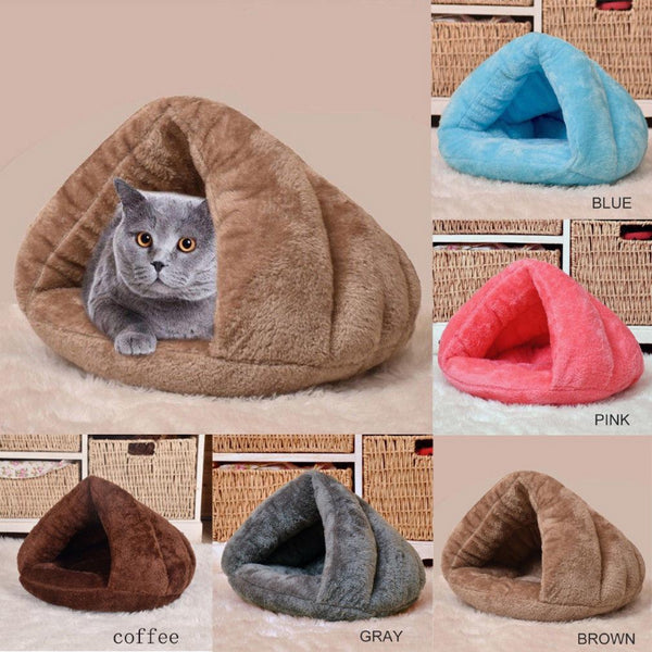 Warm Cozy Pet Sleeping Cave Kennel