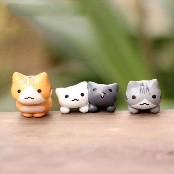 Miniature Home Decorative Cats 6 Pieces