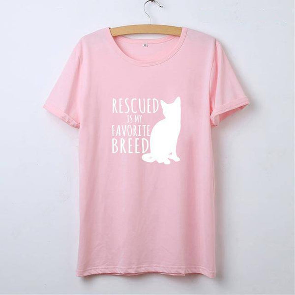 Rescued Cat Is My Favorite Breed T-Shirt
