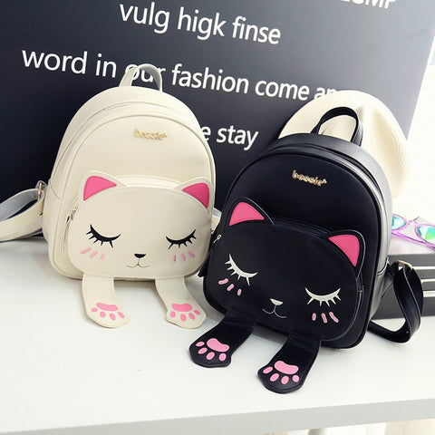 Cute Cat Women's Mini Shoulder Backpack