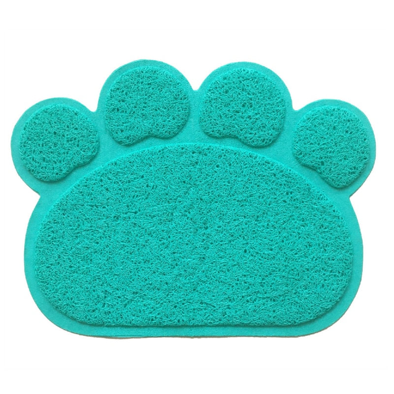 Paw Shaped Feeding & Litter Mat