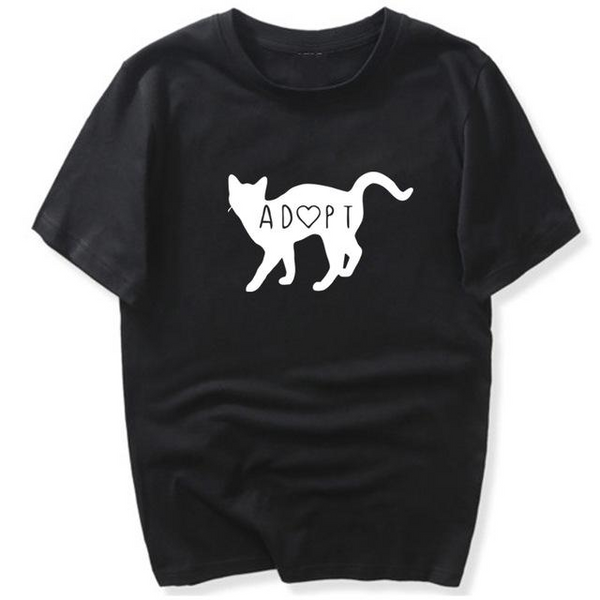 Adopt (Heart) Cat T-Shirt