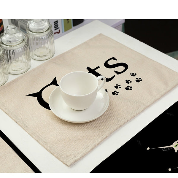 Cat Design Dining Table Placement Mats