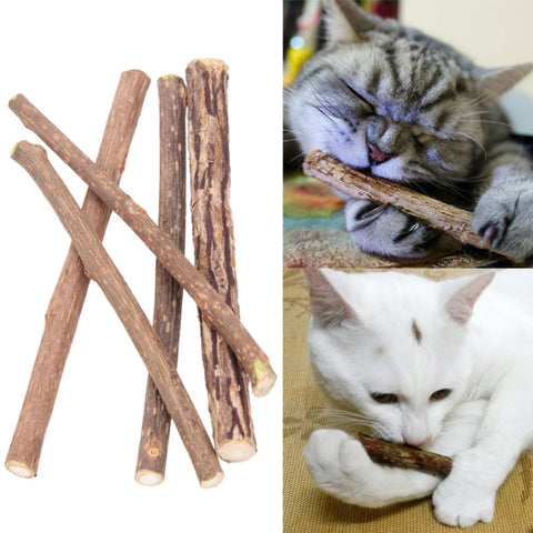 Natural Silver-vine Cat's Dental Care Chew Sticks