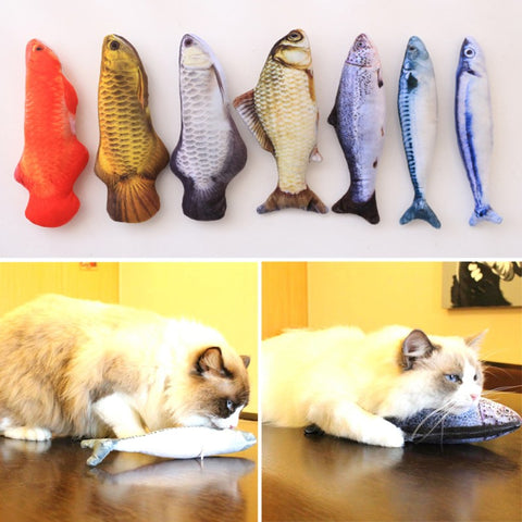 Stuffed Catnip Fish Plush Cat Toy