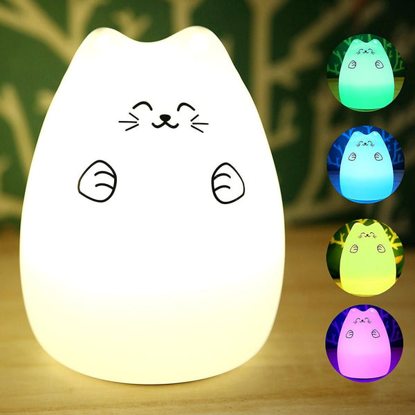 Rechargeable Touch Sensitive Cat LED Night Light