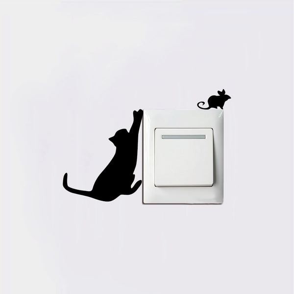 Cute Cat Wall Light Switch Decals
