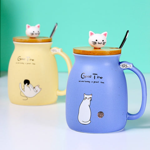 Cat Cartoon Ceramic Heat Resistant Coffee Mug
