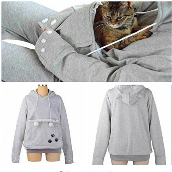Comfy Women's Cat Hoodie Sweater