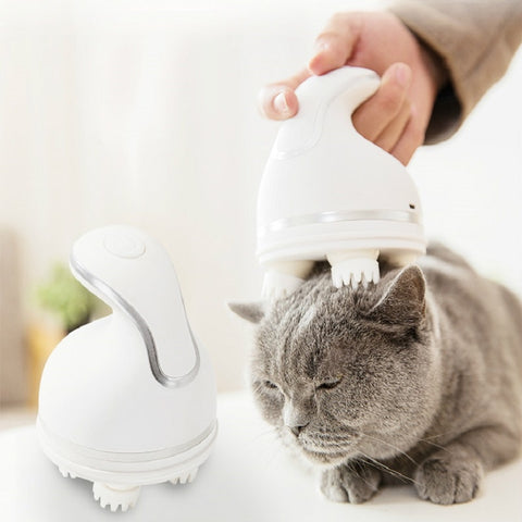 Handheld Grooming Electric Cat Brush Massager