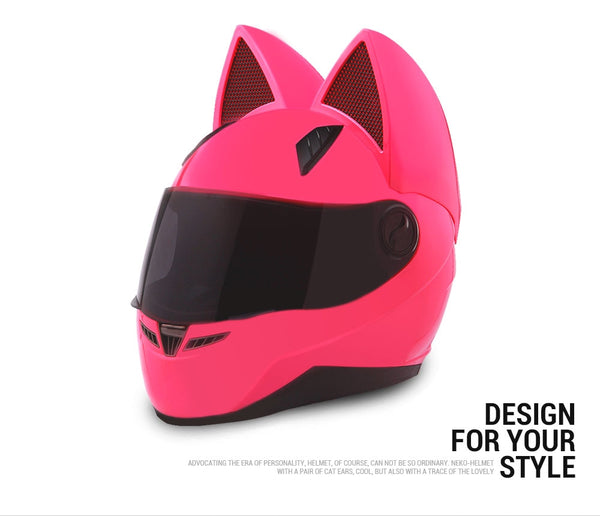 Neko Full Face Motorcycle Cat Ear Helmet