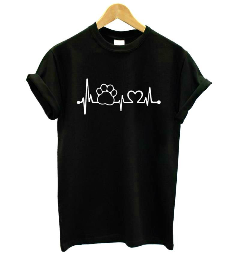 Heart Beat & Paw Design T-Shirt