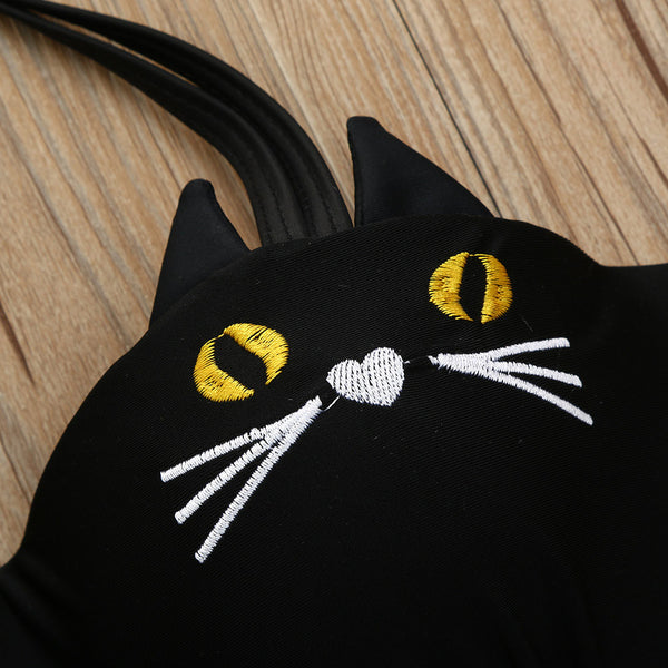 Cute Cat Faces Bikini Swimwear