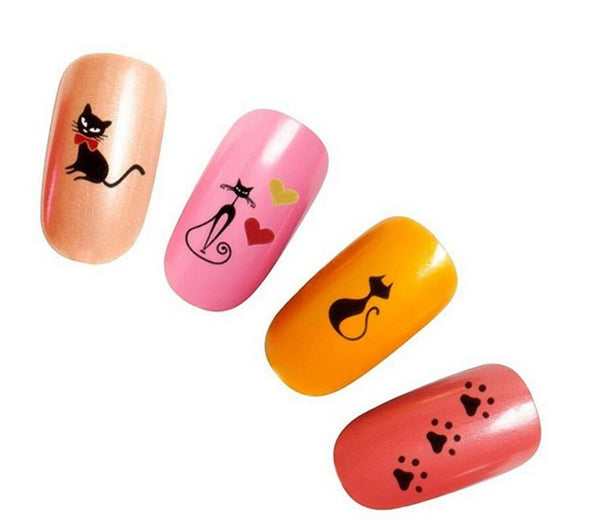 Black Cat Nail Art Stickers