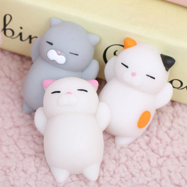 Set of 3 Cute Squishy Cat Stress Relievers