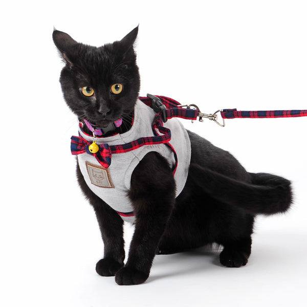 Soft Adjustable  Cat Vest Harness With leash