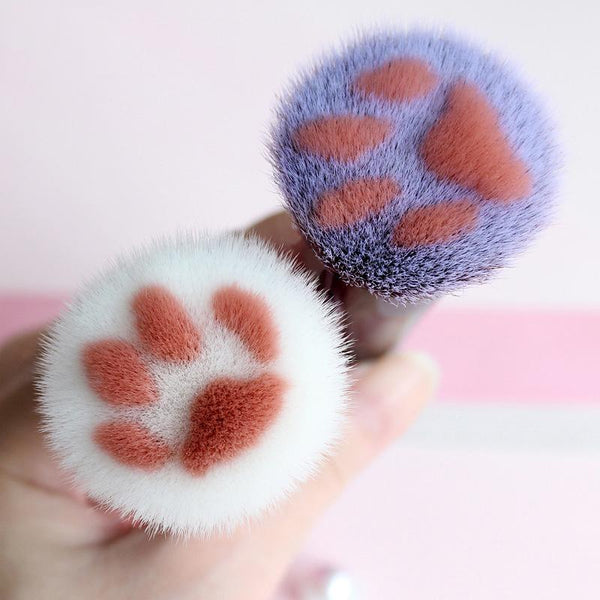 Kawaii Cat Paw Makeup Brushes 3 Piece Birthday Set