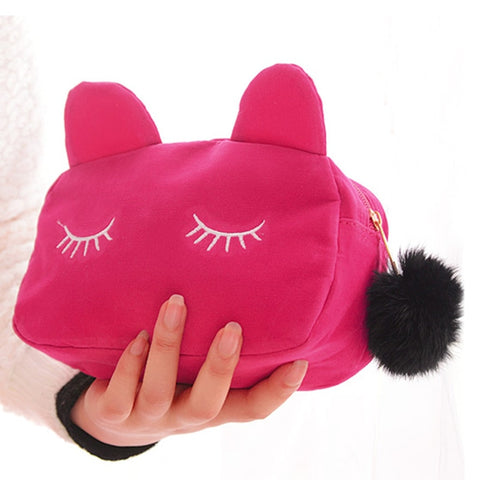 Sleeping Cat Portable Makeup Pouch