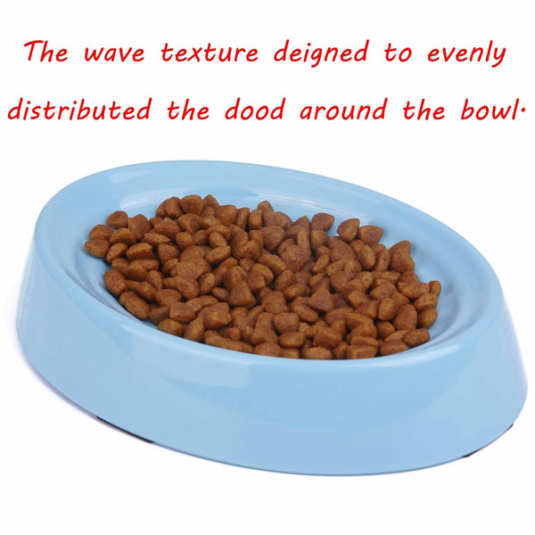 Shallow Whisker Relief Cat Feeding Bowl